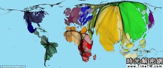 新世界人口地圖