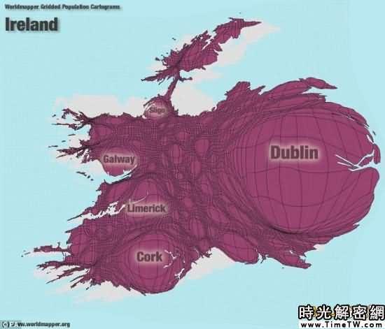 全新的世界地圖-愛爾蘭