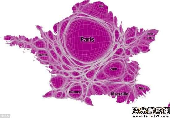 全新的世界地圖-法國