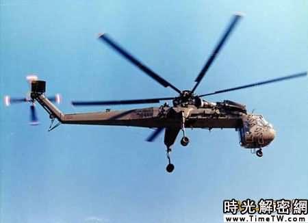 美國CH54直升機。