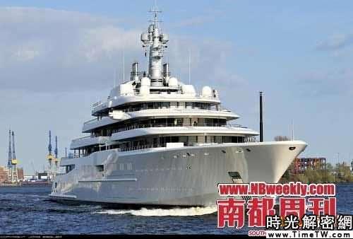 世界第一大私人遊艇的「日蝕號」下水