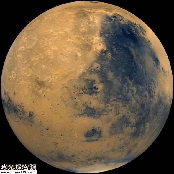 這是一張美國宇航局海盜號軌道器拍攝的火星圖像,兩艘海盜號飛船於1975年發射升空,之後母船分別釋放一顆著陸器,這是首顆在火星表面發回圖像的人類探測器