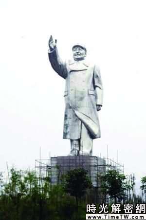 最高毛主席塑像竣工 淨高20.6米5公里內可見(圖)