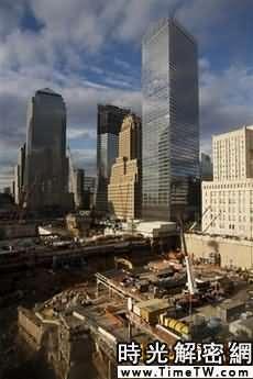 正在建設中的世貿中心遺址重建工程
