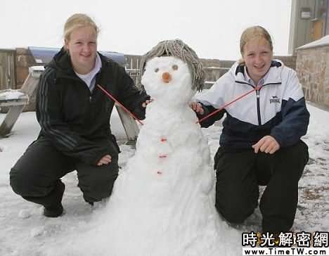 英國北部夏日降雪 一周內氣溫「冰火兩重天」