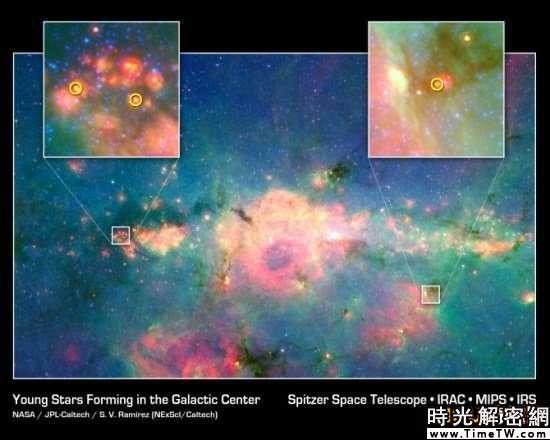 科技時代_科學家首次拍到銀河中心新生恆星(圖)