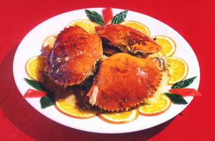 蒜蓉豆豉美味蟹