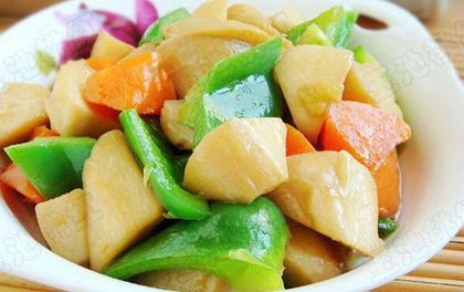 清炒胡蘿蔔杏鮑菇
