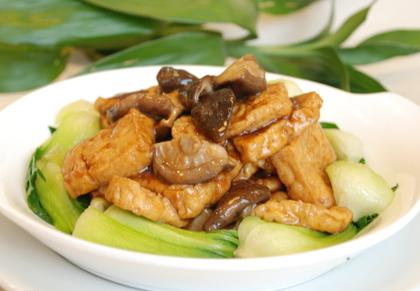 炸豆腐燒香菇