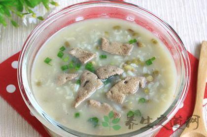 豬肝綠豆粥