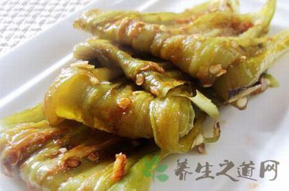 蒜辣醬烤青椒片