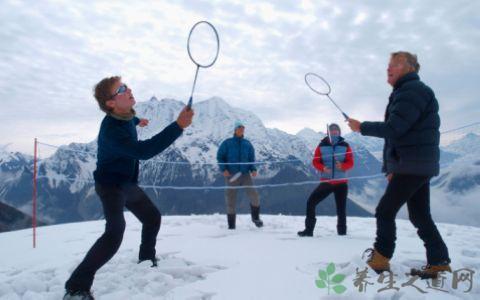 冬季打羽毛球的好處