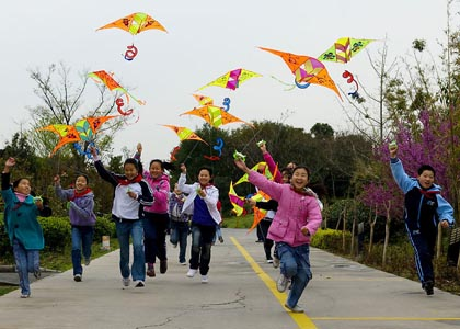 小孩放風箏