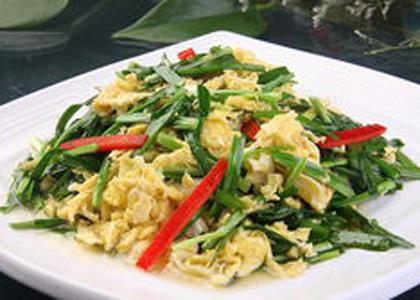 韭菜炒雞蛋
