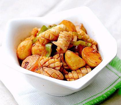 小土豆燒魷魚