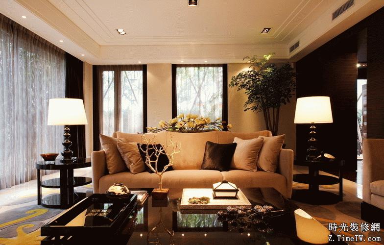 諾丁山傳統歐式客廳設計裝修細節
