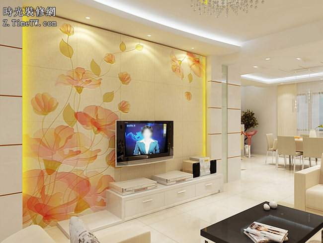 現代簡約電視背景牆效果圖