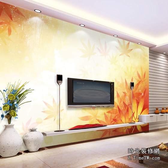 家庭客廳電視背景牆主題風格