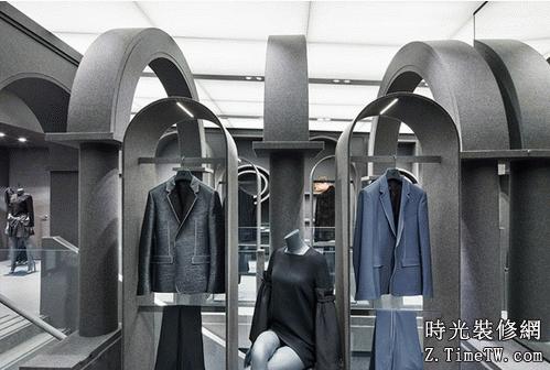 極簡主義服裝店的裝修效果圖