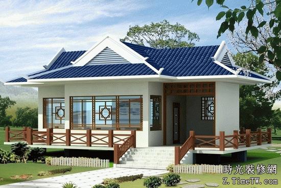 中式別墅庭院設計效果圖介紹