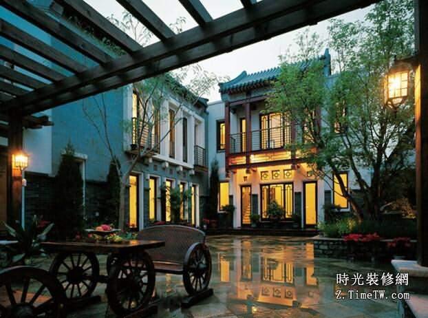 中式豪華別墅庭院設計