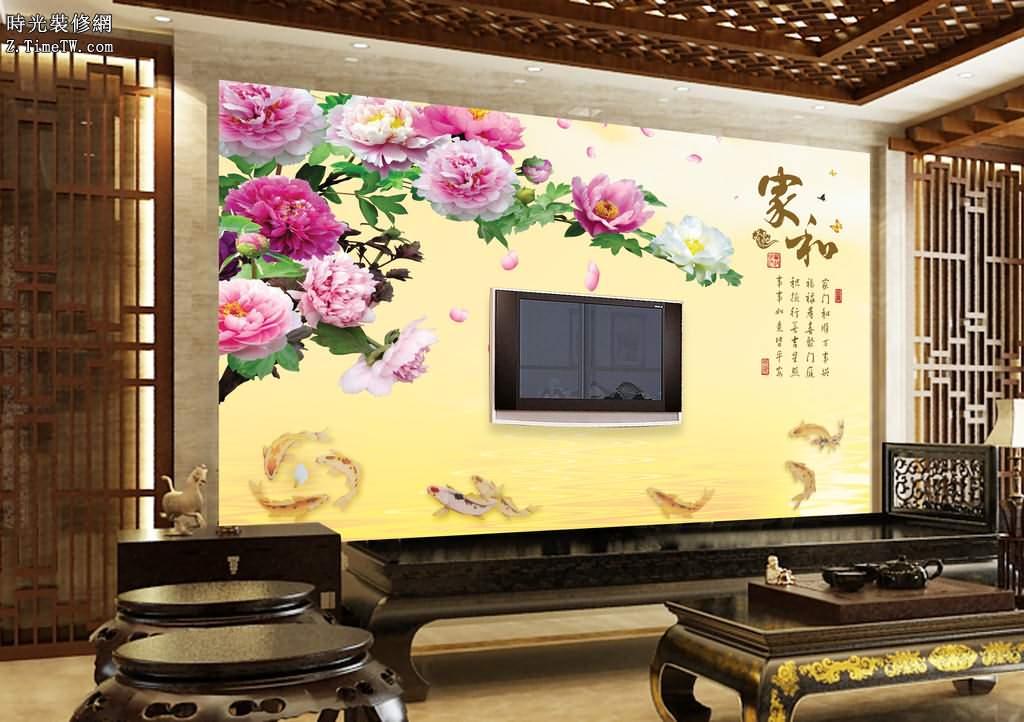 沙發背景牆的搭配設計
