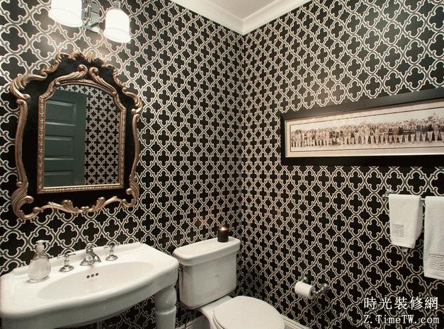 家裝衛生間壁紙鋪貼原則