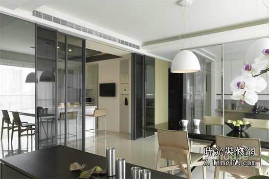 廚房隔斷玻璃門設計