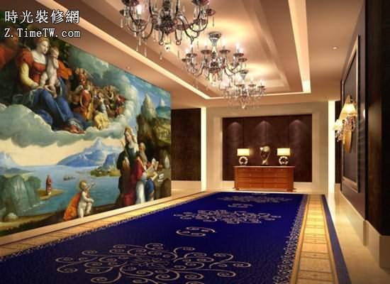 歐式壁畫圖片 歐式客廳瓷磚壁畫大全