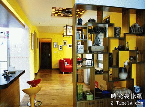 客廳餐廳博古架隔斷設計參考