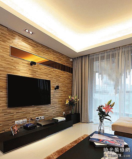 簡約電視背景牆  電視背景牆和沙發背景裝修案例
